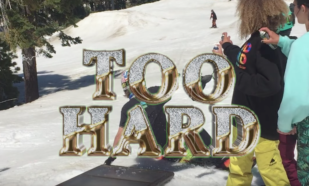 Too Hard at Woodward Tahoe, CA