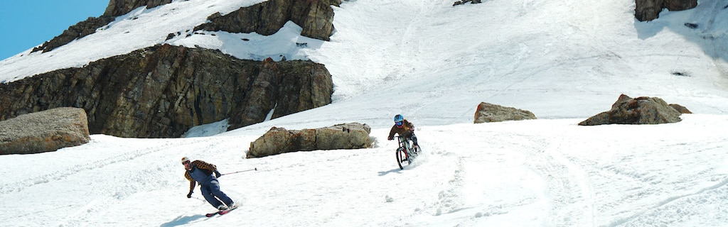 First Ever Mountain Bike Descent of Corbet's Couloir