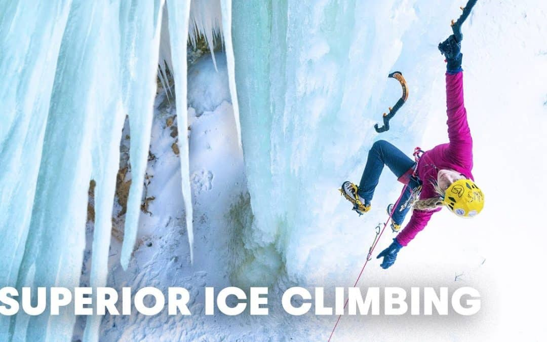 Sasha DiGiulian is Climbing Frozen Waterfalls