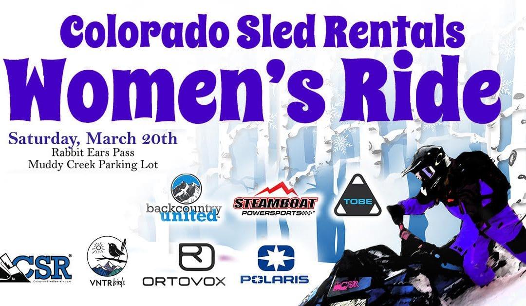 Colorado Sled Rentals' Women's Ride
